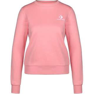 CONVERSE Star Chevron Embroidered Crew Sweatshirt Damen rosa
