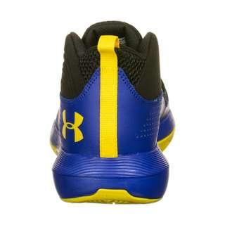 Under Armour Grade School Lockdown 4 Basketballschuhe Kinder blau / gelb