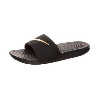 Nike Kawa Slide Sandalen Kinder schwarz / gold