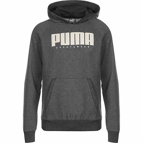 PUMA Athletics Fleece Hoodie Herren dunkelgrau im Online