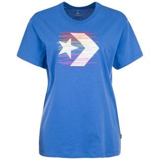 CONVERSE Rainbow Thread Icon Remix T-Shirt Damen blau / bunt