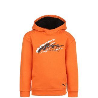 PUMA Alpha Holiday Fleece Hoodie Kinder orange