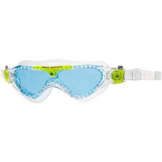 Aqua Sphere Vista Junior Schwimmbrille Kinder blue lens;clear lime