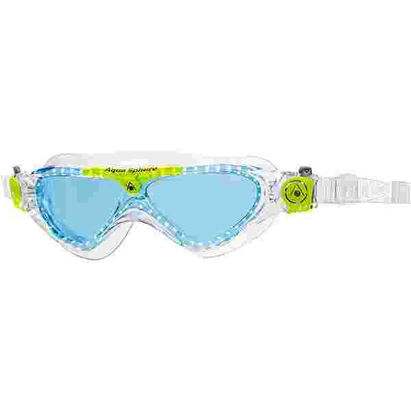 Aquasphere Vista Junior Schwimmbrille Kinder blue lens-clear lime