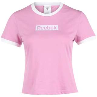 Reebok Training Essentials Linear Logo Slim Funktionsshirt Damen rosa