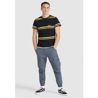 Khujo PHRASE T-Shirt Herren schwarz gestreift