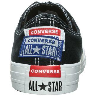 CONVERSE Chuck Taylor All Star Logo Stacked OX Sneaker Damen schwarz / blau