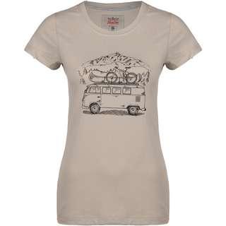 VAN ONE Zugspitze VW Bulli T-Shirt Damen beige