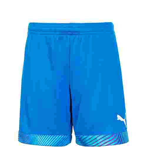 PUMA CUP Fußballshorts Kinder blau / weiß