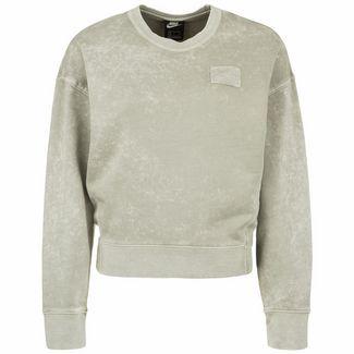 Nike Sportswear Crew FT Rebel Sweatshirt Damen hellgrün