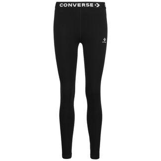 CONVERSE Wordmark Leggings Damen schwarz / weiß