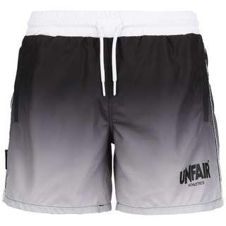 Unfair Athletics Classic Label Swim Bermudas Herren schwarz / weiß