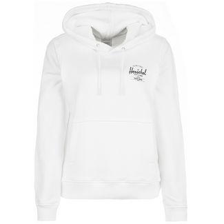 Herschel Classic Logo Kapuzenpullover Hoodie Damen weiß / schwarz