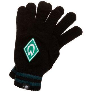 UMBRO SV Werder Bremen Striped Cuff Laufhandschuhe schwarz / grün