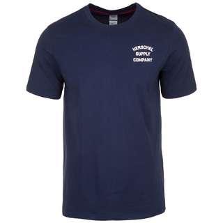 Herschel Tee T-Shirt Herren dunkelblau / rosa
