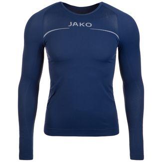 JAKO Comfort Langarmshirt Herren dunkelblau / weiß