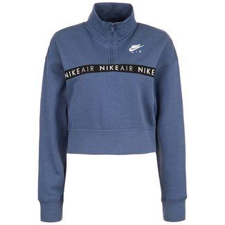 Nike Air Half-Zip Sweatshirt Damen blau / schwarz