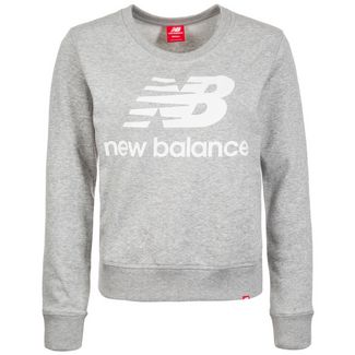 NEW BALANCE Essentials Crew Sweatshirt Damen hellgrau