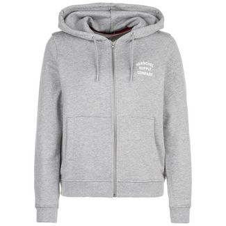 Herschel Classic Logo Sweatjacke Damen grau / weiß