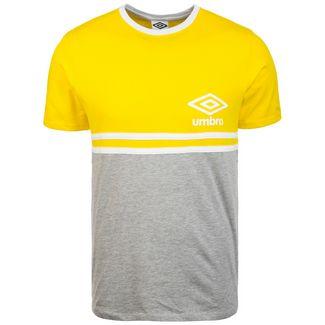 UMBRO Block Stripe T-Shirt Herren gelb / grau