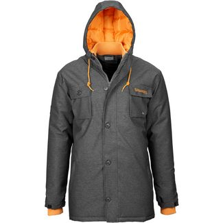 Spalding Parka Outdoorjacke Herren anthrazit / orange