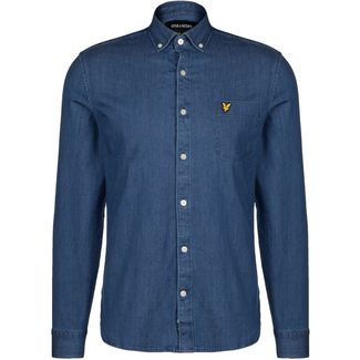 Lyle & Scott Slim Fit Denim Langarmhemd Herren dunkelblau