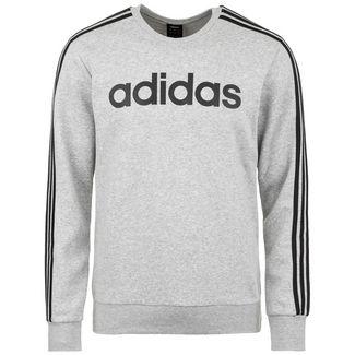 adidas Essentials 3 Stripes Sweatshirt Herren grau / schwarz