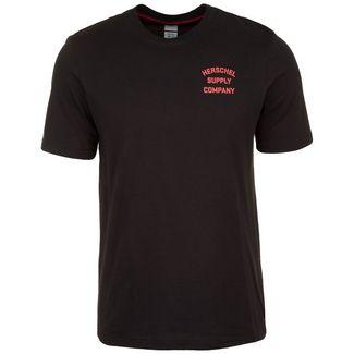 Herschel Tee T-Shirt Herren schwarz / korall