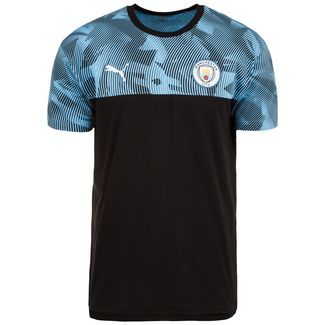 PUMA Manchester City Casuals Fanshirt Herren schwarz / blau