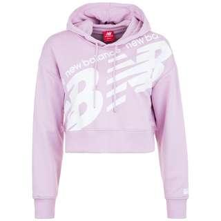 NEW BALANCE Athletics Cropped Hoodie Damen rosa / weiß