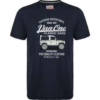 VAN ONE Landi VW bulli T-Shirt Herren dunkelblau