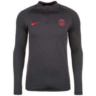 Nike Paris St.-Germain Dry Squad Drill Funktionssweatshirt Herren dunkelgrau / rot