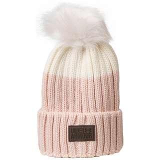 Under Armour Snowcrest Pom Beanie Damen rosa / weiß