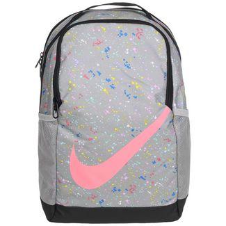 Nike Rucksack Brasilia AOP Daypack Kinder grau / pink
