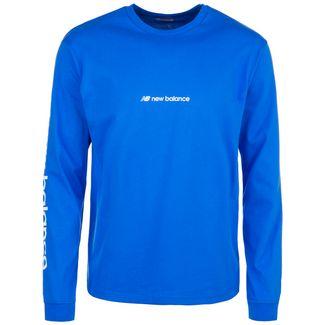 NEW BALANCE Sport Style Optiks Sleeve HIT T-Shirt Herren blau / weiß