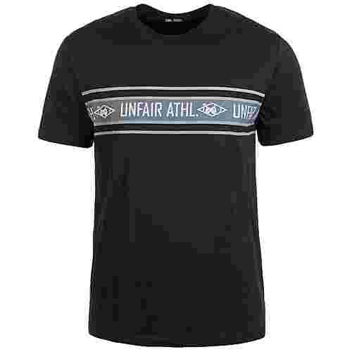 Unfair Athletics Athletic Striped T-Shirt Herren schwarz / grau