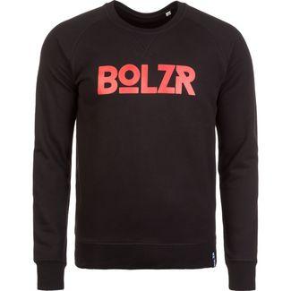 Bolzr Sweater Sweatshirt Herren schwarz / rot