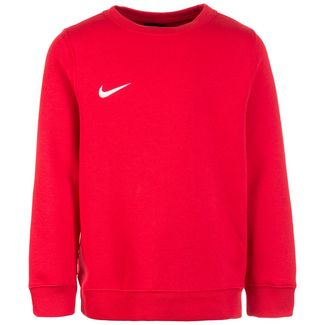 Nike Club19 Crew Fleece TM Funktionssweatshirt Kinder rot / weiß