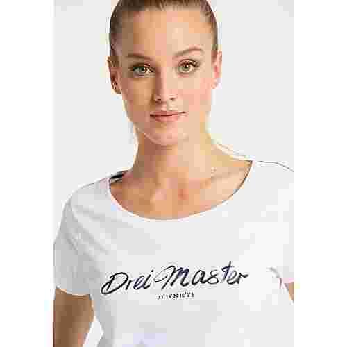 DreiMaster Printshirt Damen weiss
