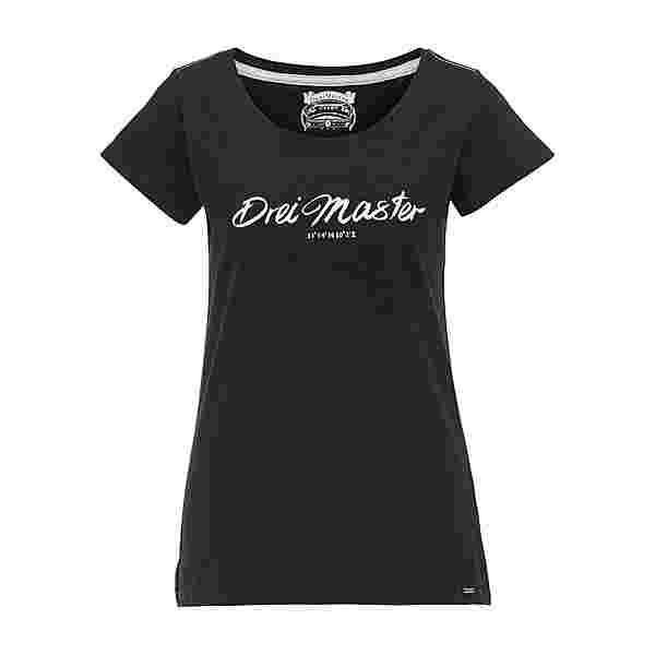 DreiMaster Printshirt Damen Schwarz