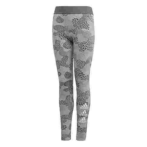 adidas Must Haves Graphic Tight Tights Kinder Medium Grey Heather / Grey Four / White