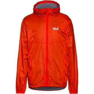 Jack Wolfskin Pack and Go JWP Breather Windbreaker Herren lava red