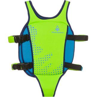 Aqua Sphere Swim Vest Schwimmhilfe Kinder bright green blue