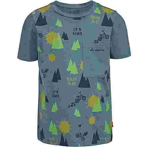 VAUDE Tammar AOP T-Shirt Kinder blue gray