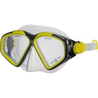 AQUA LUNG Hawkeye Taucherbrille bright yellow dark grey