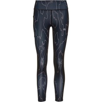 Calvin Klein Cooling X Lace Tights Damen ck black abstract