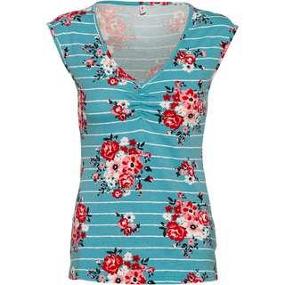 Blutsgeschwister Sommerliebe V-Shirt Damen les roses