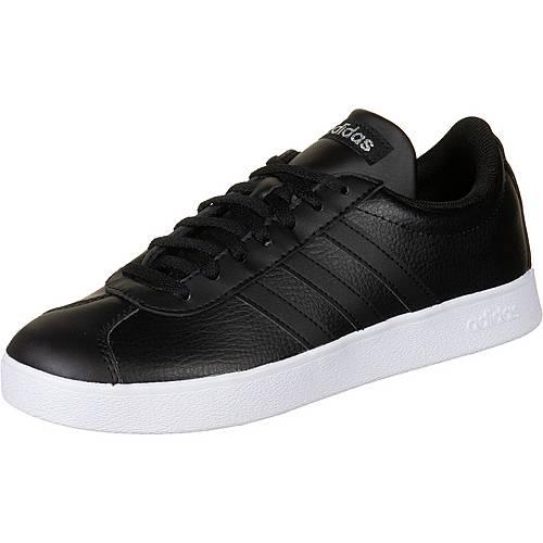 adidas VL Court 2.0 Sneaker Damen schwarz silber im Online Shop von SportScheck kaufen