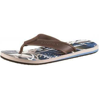 O'NEILL FM ARCH GRAPHIC SANDALS Zehentrenner Herren blue aop w/ brown
