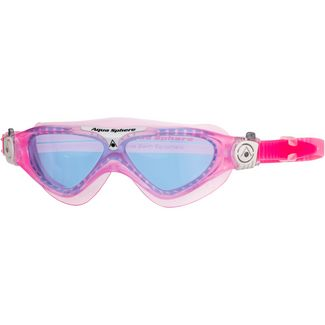 Aqua Sphere Vista Junior Schwimmbrille Kinder blue lens;pink white